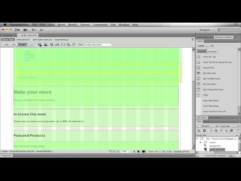 Creating Adaptive Designs Using Fluid Grid Layouts in Dreamweaver CS6