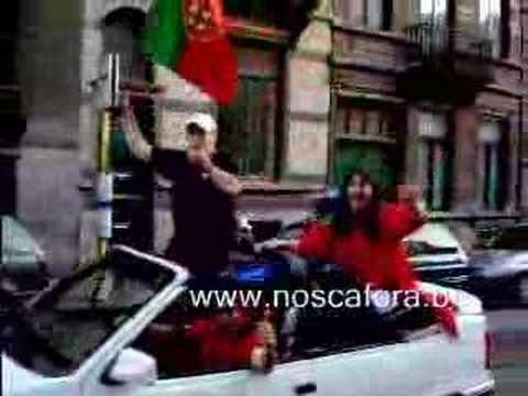 Festa emigrantes place Flagey Portugal-Inglaterra