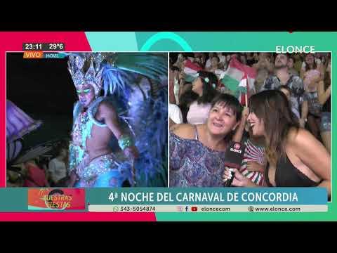 Carnavales de Concordia: Así vive el público la fiesta