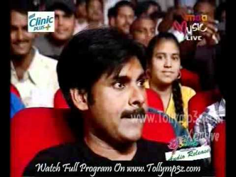 Pawan Kalyan Entrance @ 'Theen Maar' Audio Release Part 10 [