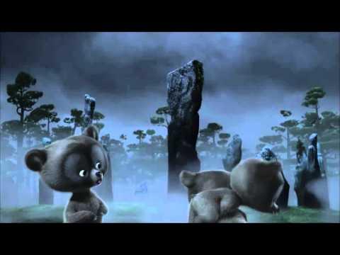 Pixar Brave Bear Cub Triplets Causing Mischief