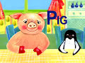 "Фрагмент с начала видео - Learning ABC Alphabet - Letter ""P"" - Pig and Penguin"