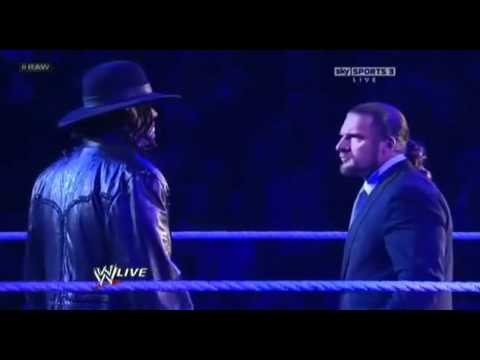 WWE Raw 1/30/12 - Undertaker Returns to Confront Triple H!