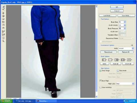 Photoshop Beginner Tutorial : Weight Loss/ Body Makeover Using Liquify