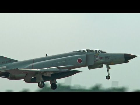 F-4 Phantom II Landing Runway 21L HYAKURI AIR BASE JASDF