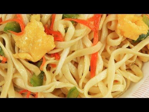 Gebratene Nudeln mit Hühnchenfleisch und Gemüse - UC9pJIGR4qTg75CGiRwMNo8g