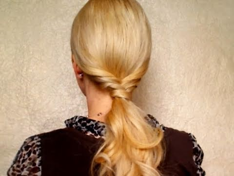 Ponytail hairstyles for long hair, medium Everyday easy braided chic sophisticated hair winter 2011