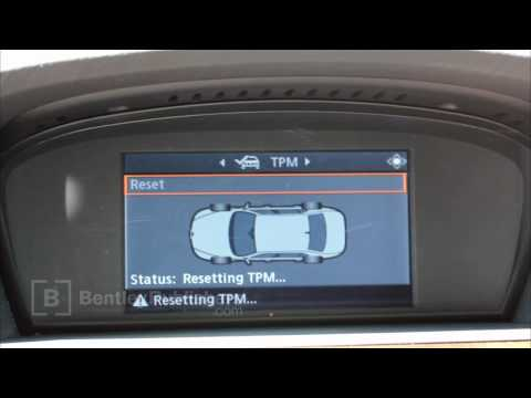 BMW 5 Series E60 E61 Tire Pressure Monitor Reset - How To