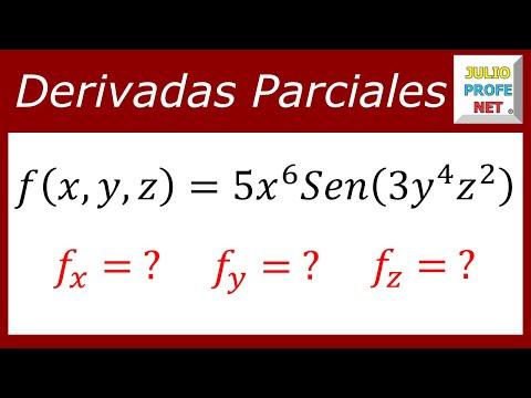 Primeras derivadas parciales de una función