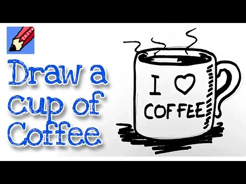 How to draw a Mug of Coffee Real Easy - Spoken Tutorial