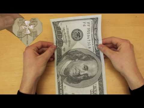 Easy Origami Dollar Bill Money Heart Instructions