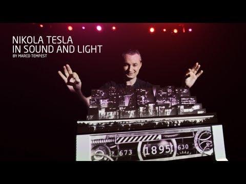 Nikola Tesla in Sound and Light