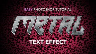 Easy Photoshop Tutorial: Metal Text Effect