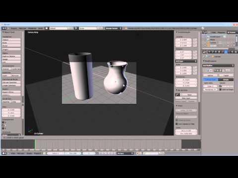 (aula 3/4) Blender 2.62 Tutorial em Portugues, Modelando objetos e aplicando materiais.