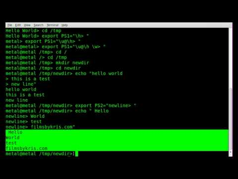 Modifying Interactive Command Prompt with PS1 and PS2 - BASH - Linux