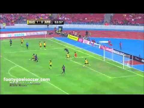 Malaysia vs Arsenal (1-2) Arsenal Asia Tour Friendly 24-07-12