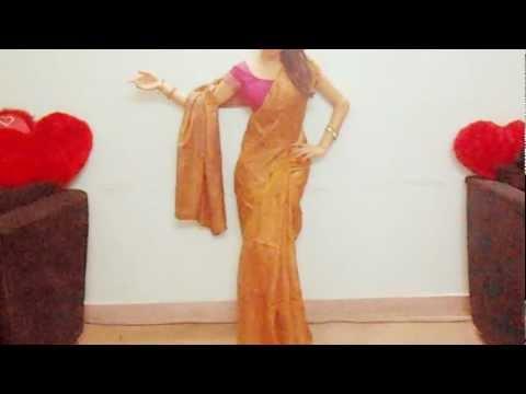 Silk Saree Draping Tutorial-How To Wear An Indian Silk Saree