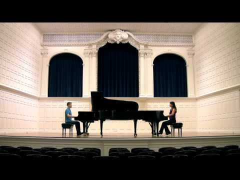 HD: Mozart-s SONATA for TWO PIANOS - Anderson & Roe