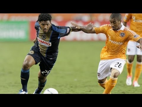 HIGHLIGHTS: Houston Dynamo vs. Philadelphia Union, MLS June 30, 2012