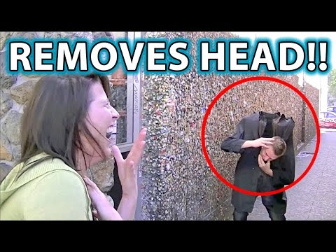 Craziest Halloween Scare/Prank Trick Ever! Head Drop Illusion