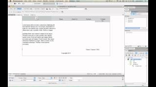 Creating a HTML5 website with template using Dreamweaver CS5 Tutorial - 5