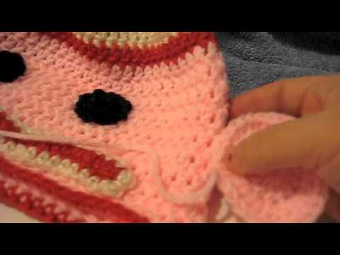 Crochet Sock Monkey Hat Tutorial Left Handed Part 4