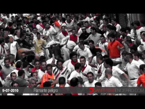 9 de Julio de 2010. Tercer encierro de los Sanfermines.