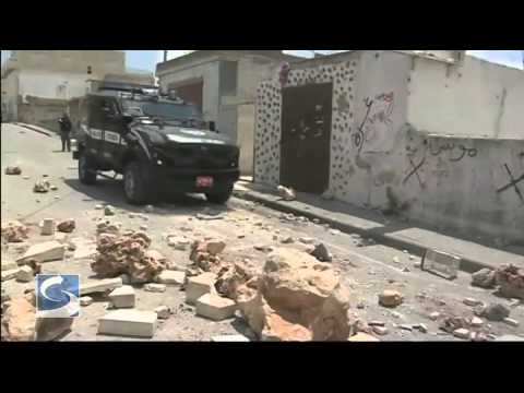 Palestinian-Israeli Clashes in the West Bank (footage)