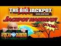 Фрагмент с начала видео JACKPOT HANDPAY ✦ $50/ SPIN ✦ African Diamond PAYOUT! | The Big Jackpot