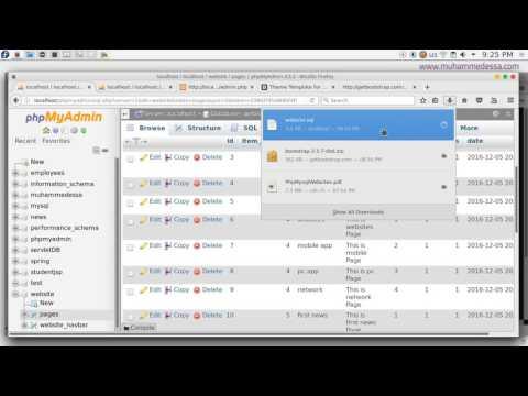 6   PHP & MySQL CMS database preparation