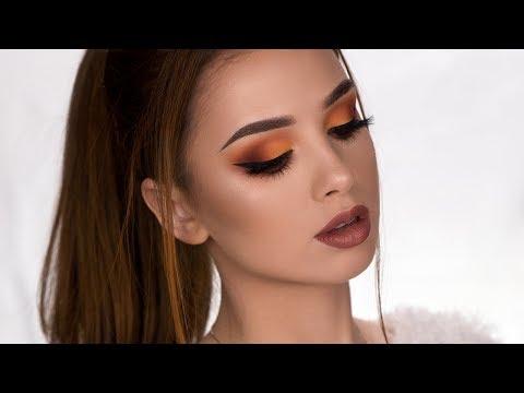 FALL Inspired Makeup Tutorial   Matte Brown & Orange Smokey Eye - UCXoY0ZeHZBe0p-ByCiYP_XQ