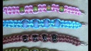 PULSERAS DE NUDOS CON CUENTAS Y CORDONES VARIADOS. KNOT BRACELETS WITH DIFFERENT BEADS AND CORDS