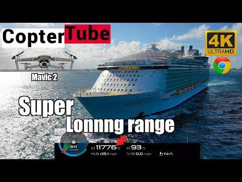 Dji Mavic 2 Pro 1st cruise 🛳🚁chase Loooonnnnngg range.