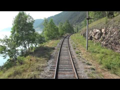 Train ride along Lake Baikal