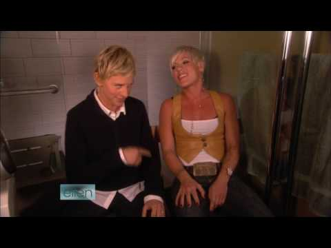 P!nk & Ellen DeGeneres - So What (Bathroom Concert Series) HD