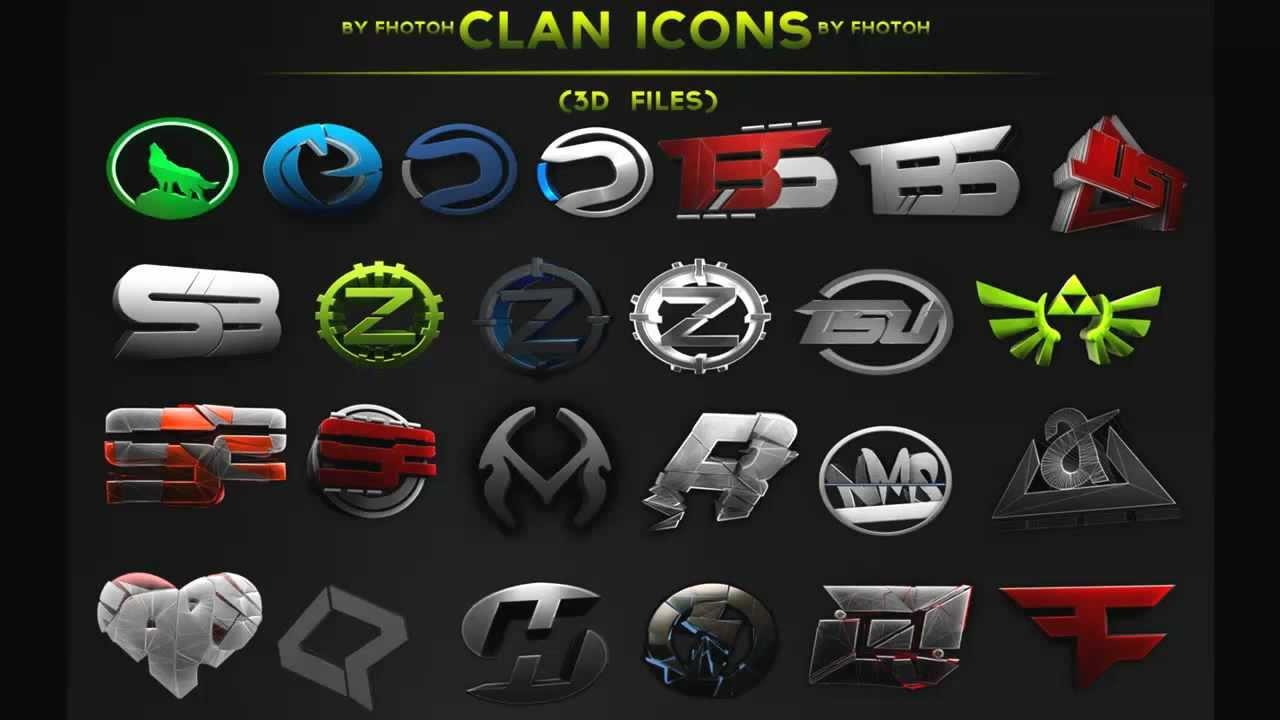 Famous Clan Logos 3d Clan Logo Pack Fudge