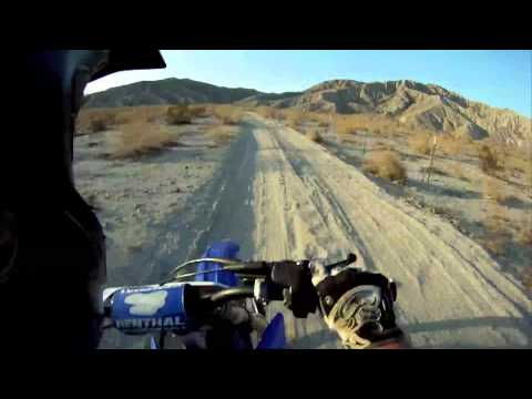 yz 250 - desert trail riding