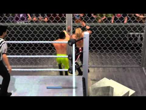 My SvR 2011 Universe - Week 38 -1 - Last Man Standing Hell in a Cell to the Edge