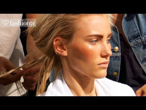Max Mara Hair & Makeup Backstage - Milan Fashion Week Spring 2012 MFW | FashionTV - FTV