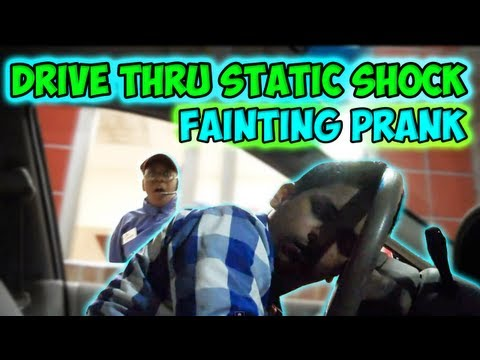 Drive Thru Faiting Static Shock Prank
