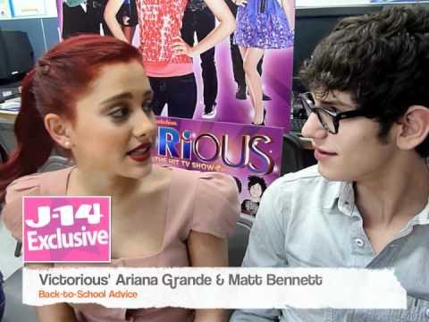 J-14 Exclusive: Victorious' Ariana Grande & Matt Bennett's Back-to-School Advice