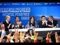 """07 de MAY.  Inauguración Hospital Pediátrico """"Dr. Avelino Castelán"""". Cristina Fernández"""