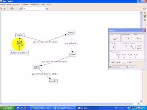 Mapas Conceituais - Utilizando o Cmap Tools.