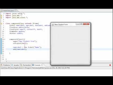 Learn Java in Hindi 53 a : Advanced Event Handling and Swing