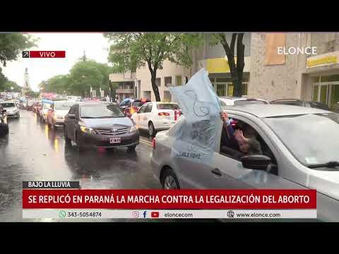 Se replicó en Paraná la marcha contra la legalización del aborto