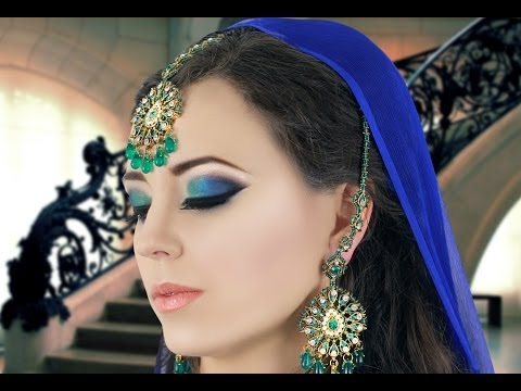 Green and Blue Smokey Eye Makeup Tutorial - Asian / Indian Bridal