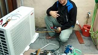como instalar aire acondicionado split vació