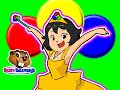 "Princess Colors ""Red Cirlce, Blue Circle"" | Kids Song, Teach Kindergarten Children, Learn Colours"
