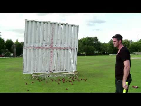 England Cricketer Kevin Pietersen - Precision Batting