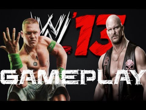 WWE 13 Game - First Gameplay VIdeo: John Cena vs Stone Cold Gameplay (Raw 1000th Episode)